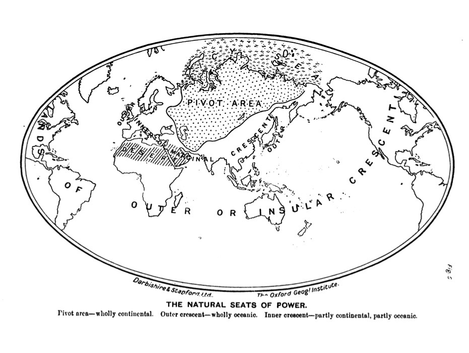 Mackinder's map of the natural seats of power(1904)